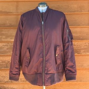 American Eagle Outfitters | Maroon Bomber Jacket